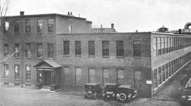 The Sturtevant manufacturing plant on Amory St. between Williams and Green Streets. From the 1919 Aircraft Year Book, Aircraft Manufacturers Association Inc. Courtesy of Vincent Tocco.