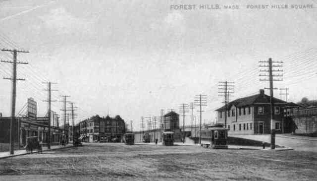 The Forest Hills station of the Boston & Providence Railroad.