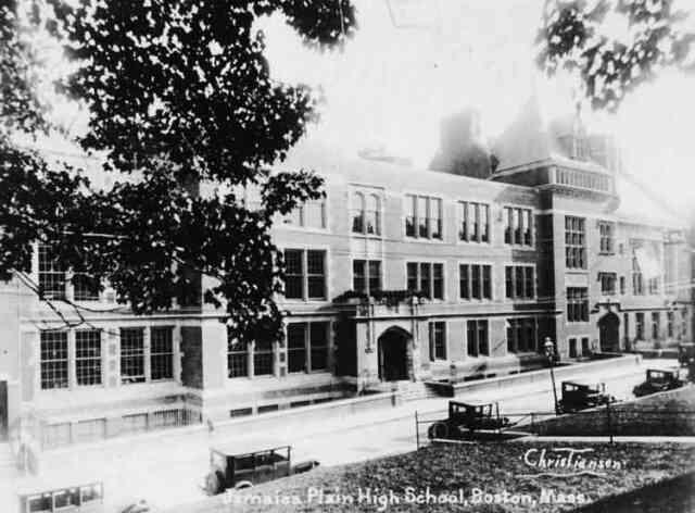 Jamaica Plain High School, 76 Elm St. 1910.