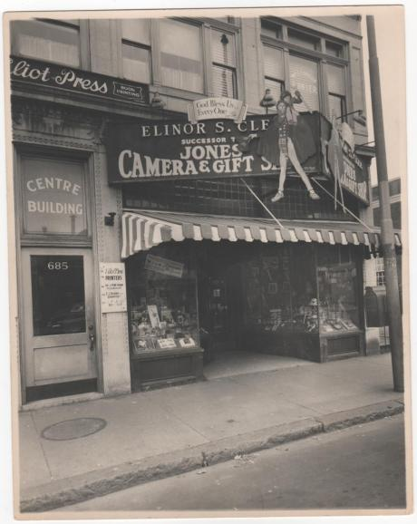 In this 1940s photo, we see Jones Card Shop on Centre Street.  Photograph provided courtesy of Peter Cook.