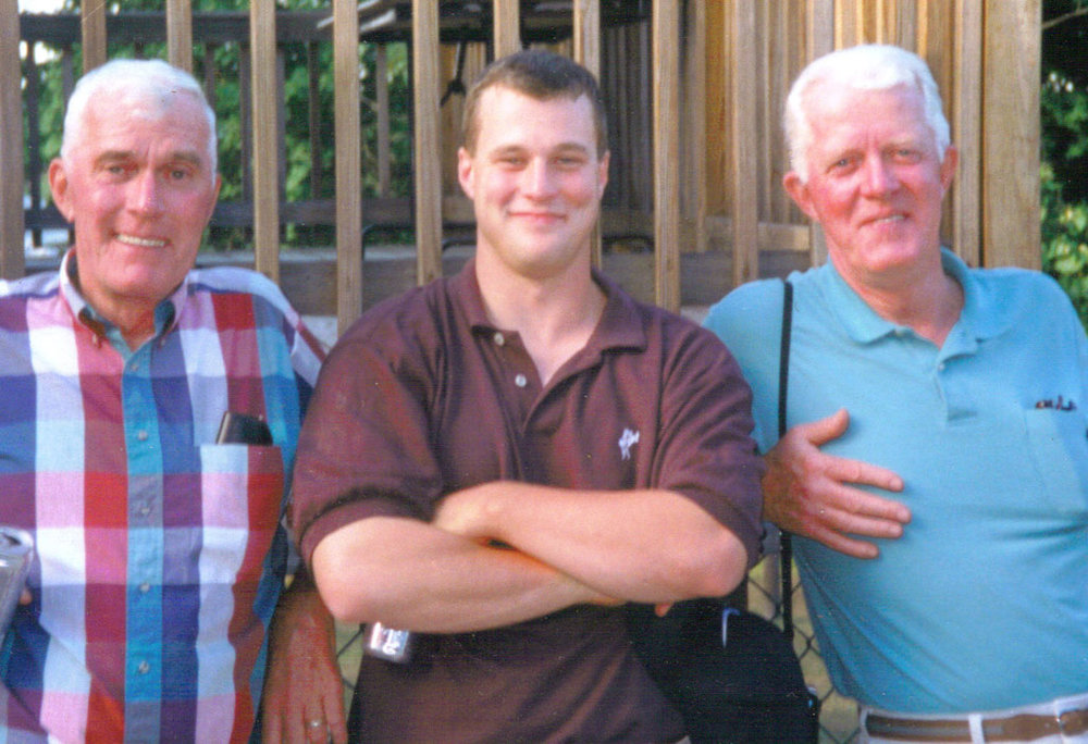 The Tighe Boys. Uncle Frannie, Jack and Dad John.