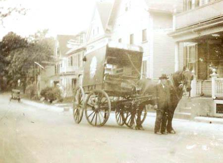 Milkman circa 1915. Courtesy Harold C. Knapp, Jr.
