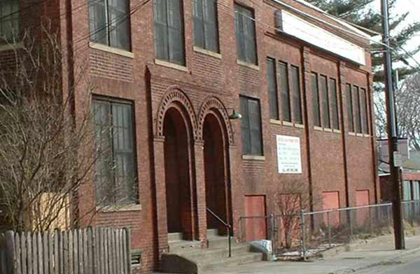 Home of the Jamaica Plain News Co. at 66 Seaverns Ave. beginning 1908. Photograph by Charlie Rosenberg, January 2003.