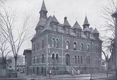 This exterior shot of the District 13 police station was published in a 1901 souvenir book.