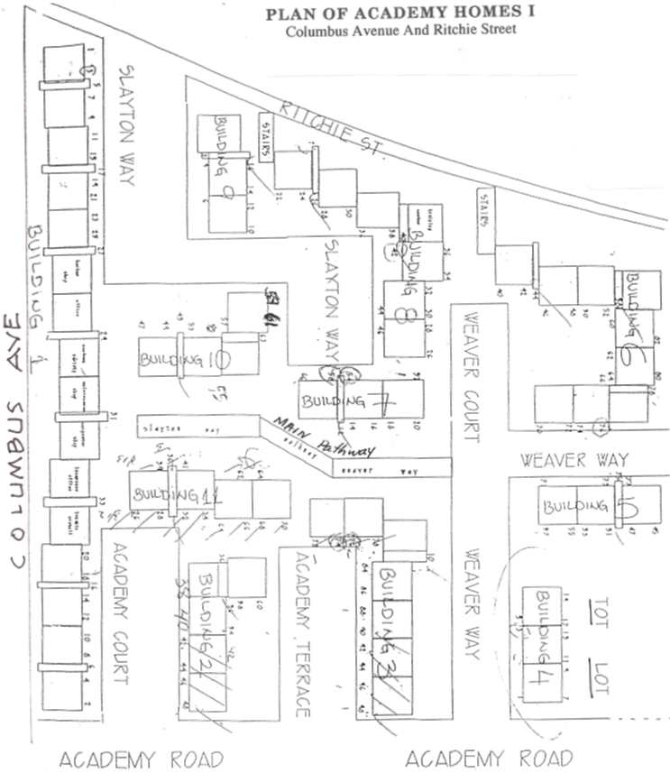 Plan of Academy Homes I.