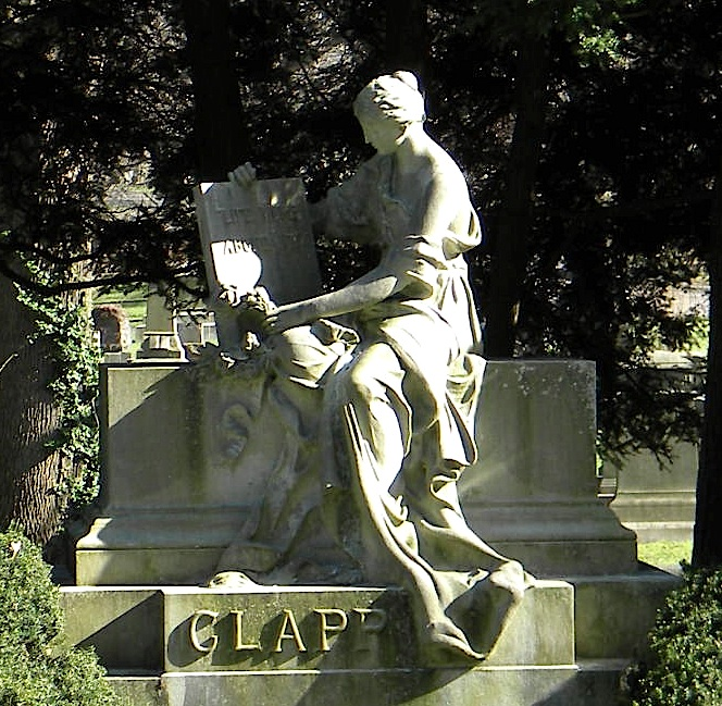 The Charles M Clapp Monument at Forest Hills Cemetery. Photograph by Richard Heath 2013