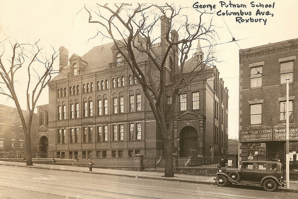 The George Putnam School, built in 1881. City of Boston Archives.