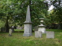 Henry Jackson's obelisk at the Swan lot Forest Hills Cemetery. Photo by Richard Heath