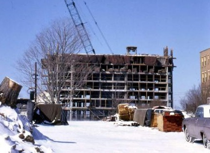 Construction begins on the Jamaicaway Towers in 1965. Photograph courtesy of Paul Gill.