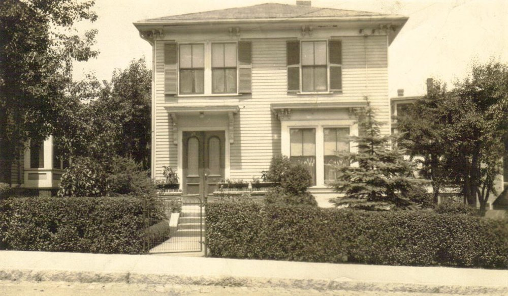 Show here is 11 Evergreen Street in Jamaica Plain. Photograph taken between 1931 and 1933. This was the home of Charles and Josephine Dunlap from 1930 to 1937 and has been provided courtesy of their son, Jim Dunlap.