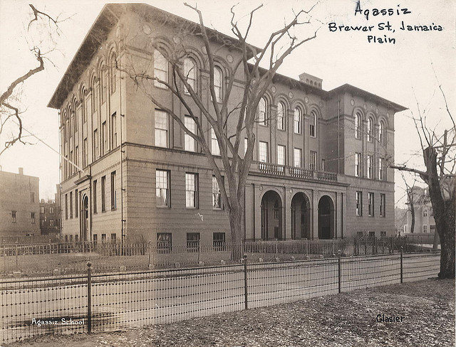 Agassiz School.  City of Boston archives.