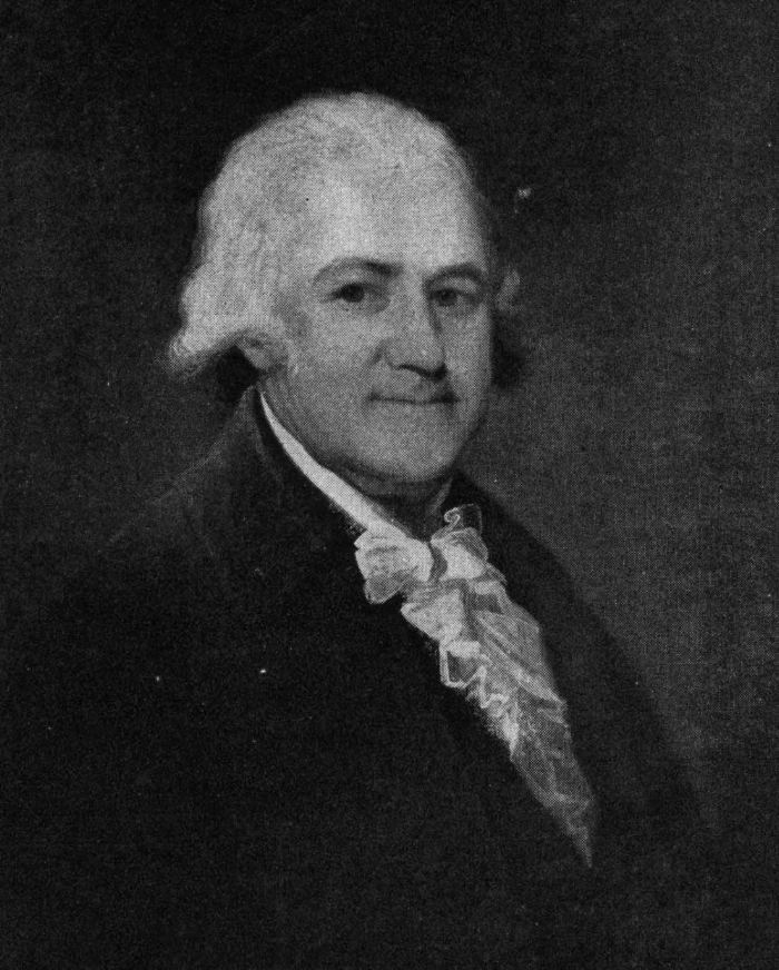 John Lowell (1743-1802), the 'Old Judge', son of the Reverend John, founded the triple line that shaped New England history for two centuries. As a member of the Continental Congress, he widened the family horizon Harrison Gray Otis called him 'the very mirror of benevolence.' Painting by Gilbert Stuart, on display at Lowell House, Harvard University. Image from The Lowells and their Seven Worlds, Ferris Greenslet, Houghton Mifflin Co., Boston, 1946.