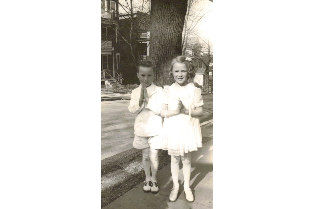 Bobby Power and Helen Cradock, First Communion, 1942