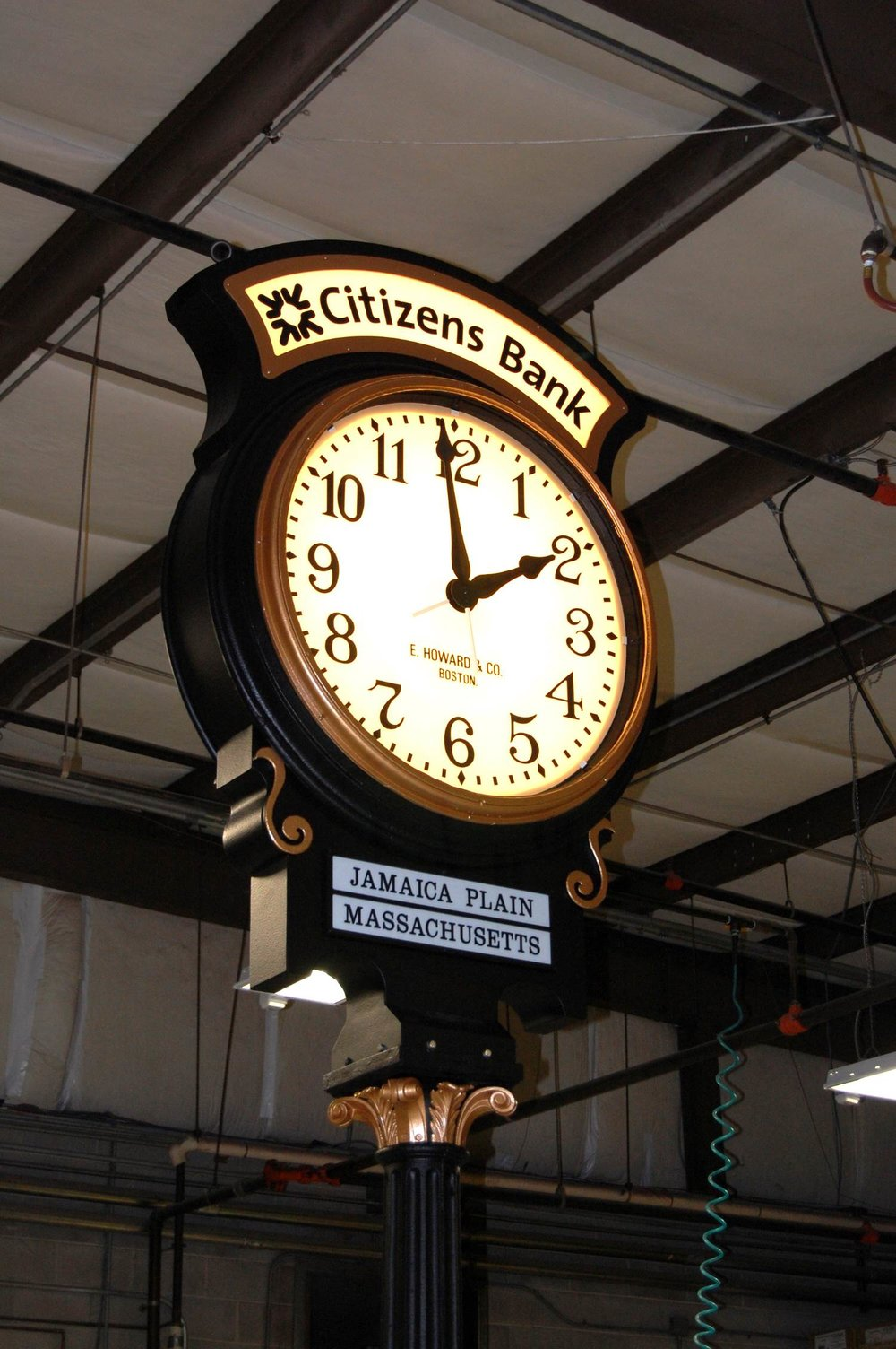 Restored Clock. Courtesy of the Electric Time Co.
