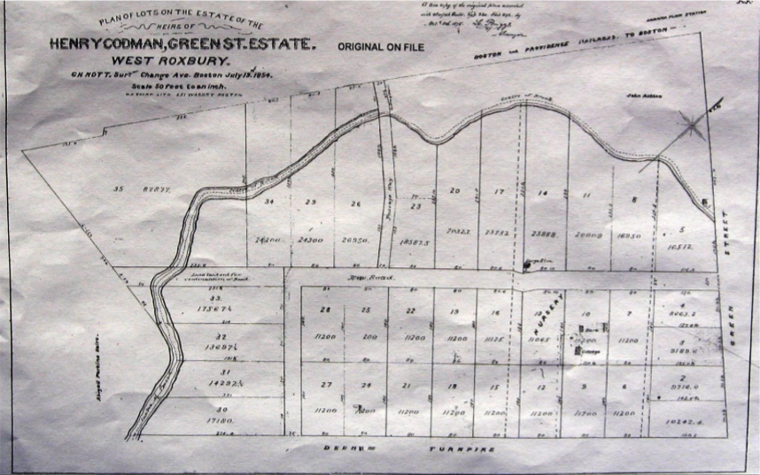 Figure 6: Plan of Lots on the Estate of the Heirs of Henry Codman