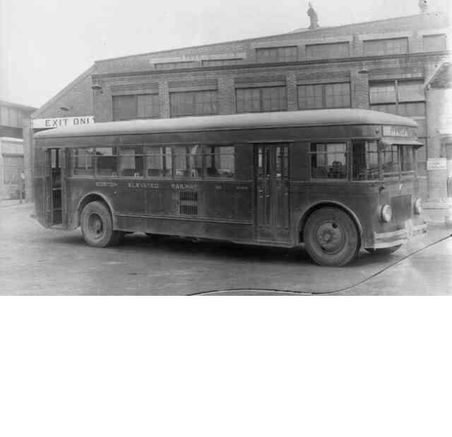 A city bus operated by the Boston Elevated Railway sits outside the Forest Hills station in 1930. Courtesy Anthony Sammarco.