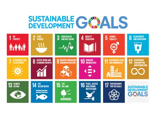The 17  Sustainable Development Goals  are an urgent call for action by all countries - developed and developing - in a global partnership.