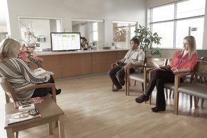 Área de espera de Clínica inteligente