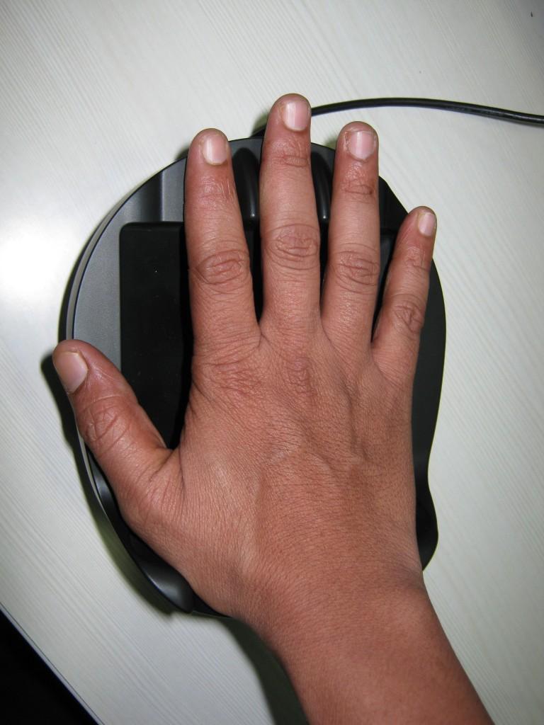 Escaneo de venas de la palma de la mano