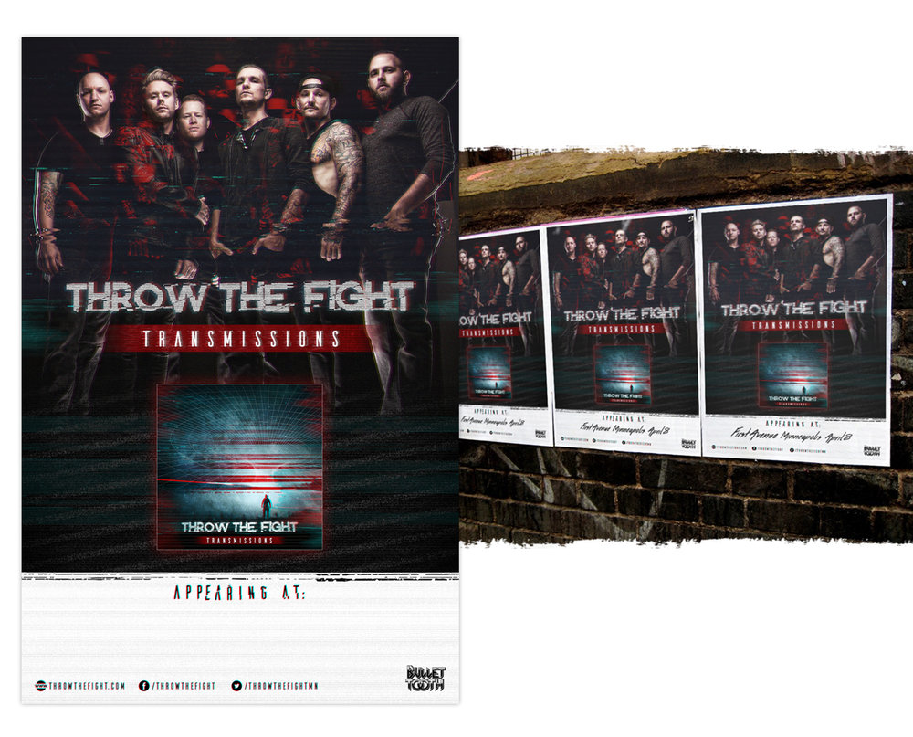 Throw The Fight poster design