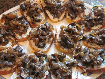 Mushroom Onion Bruschetta