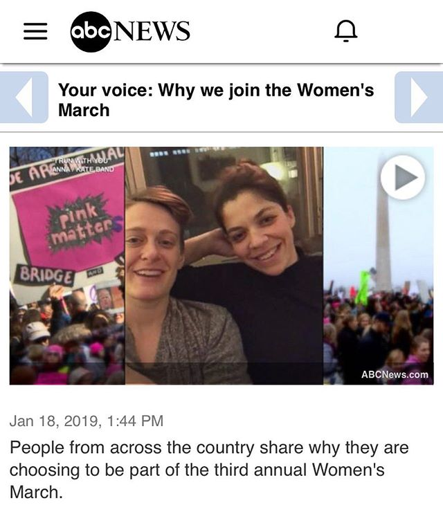 "Remember when we wrote a song directly inspired by our ❤️ for the Women's March, and the many other movements that have defined community for us in NYC? Us, too. (Hint: it's called ""I Run With You."") Oh, okay... *loses all chill* REMEMBER WHEN ABC INCLUDED OUR SONG IN THEIR SEGMENT ON THE 3rd Women's March? Sing along to the #linkinbio  @womensmarch @abcnews"