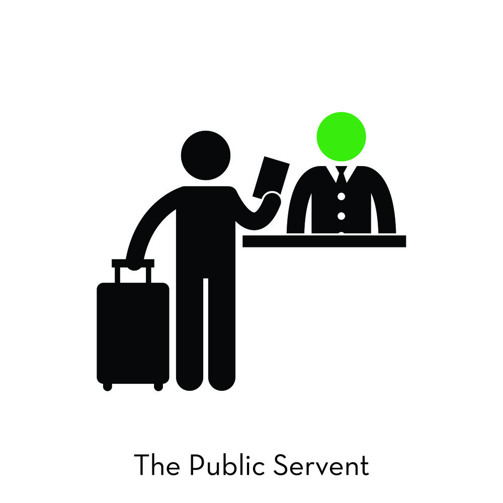 With an abiding sense of responsibility and purpose, Public Servants, from Politicians to the Post Office need to know how to work with real people and what their role is in the larger societal system.