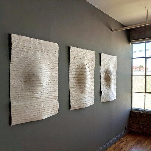 Islandmagee, triptych, 40h x 110w ins