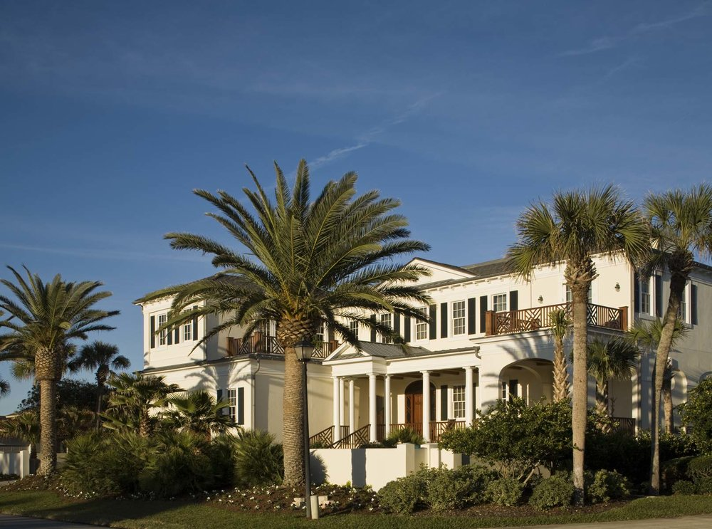 Jacksonville Home - The new house was erected on the site of the family's former home on a wide expanse of beach front property. Its Anglo-Caribbean inspiration has Georgian overtones expressed in its architecture.Explore