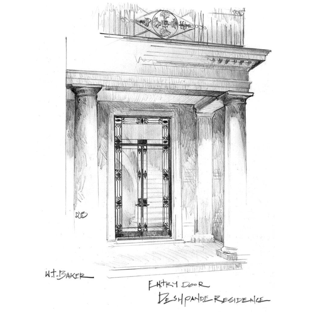 Architectural Rendering of Lotus House Front Entrance