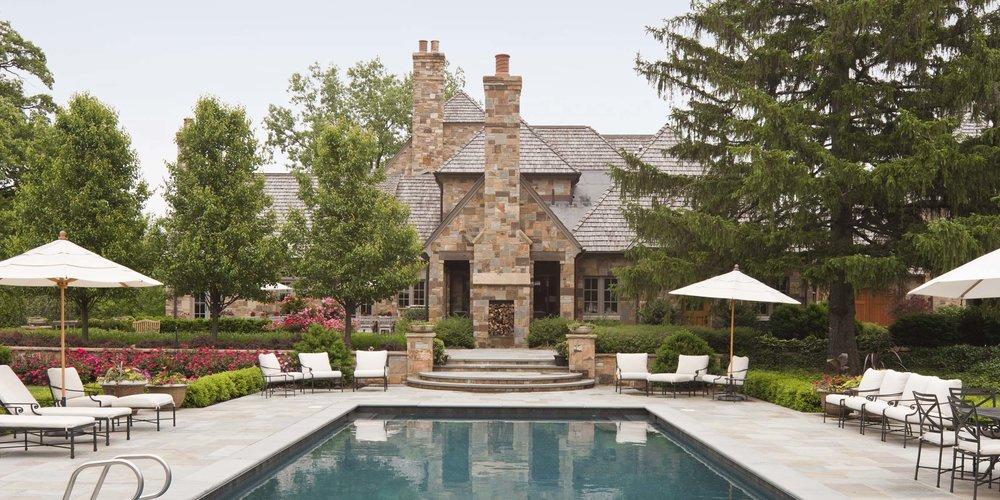 Stoneleigh House Pool & Rear Terrace
