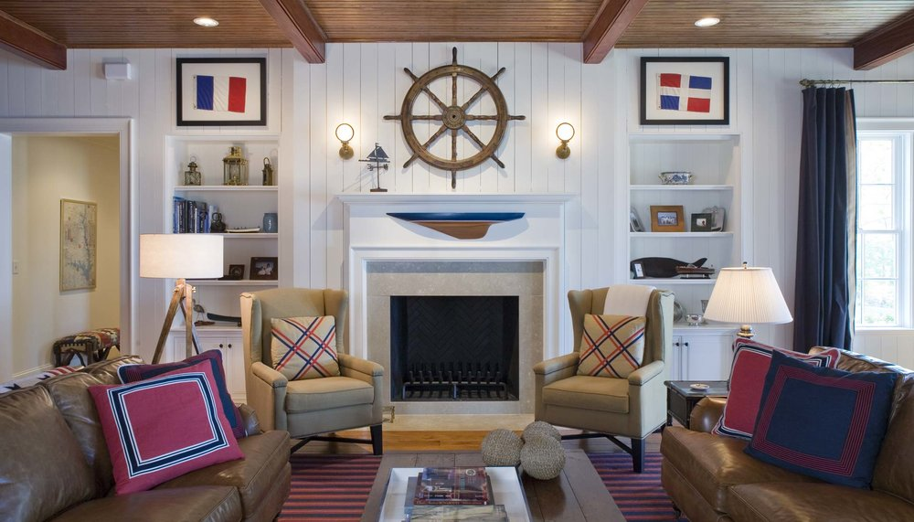 South Carolina Lake House Family Room