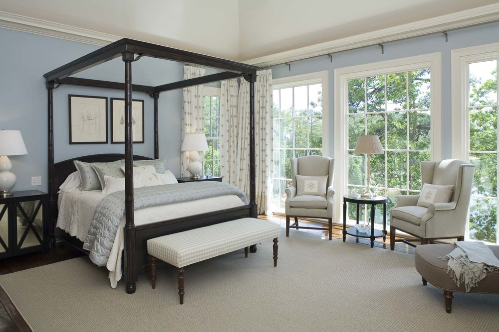 South Carolina Lake House Master Suite