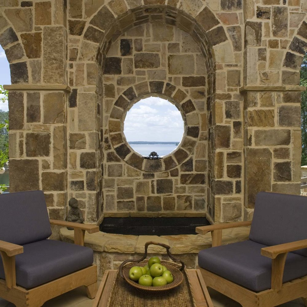 South Carolina Lake House Stone Masonry