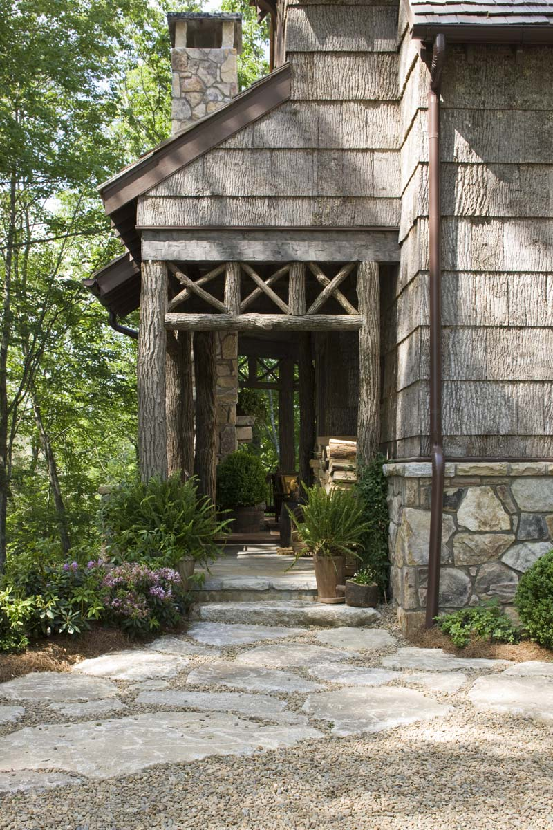 Rear Deck Entrance - Wade Hampton House, William T. Baker