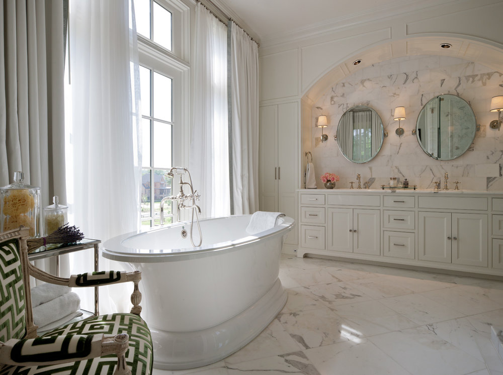 Master Bath, Louisiana Low Country | William T. Baker