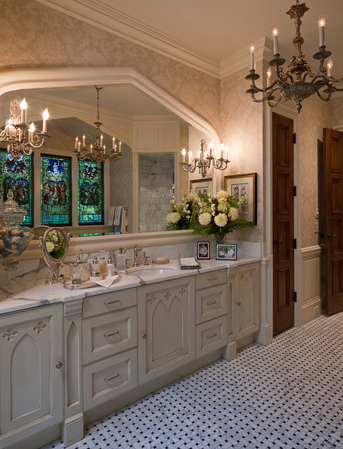 Spacious Bathroom - Tutor Manor, William T. Baker