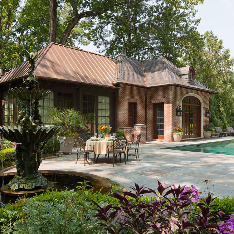 Pool House - Tutor Manor, William T. Baker