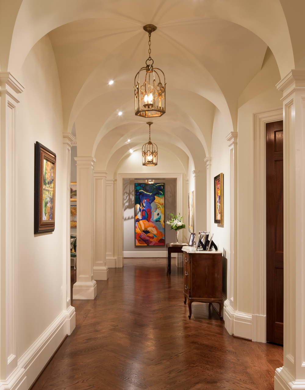 Hallway - Johnson House Art Collection, William T. Baker