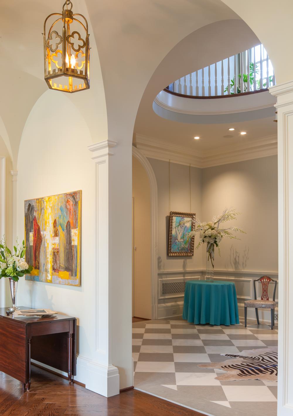 Foyer, The Johnson House   William T. Baker