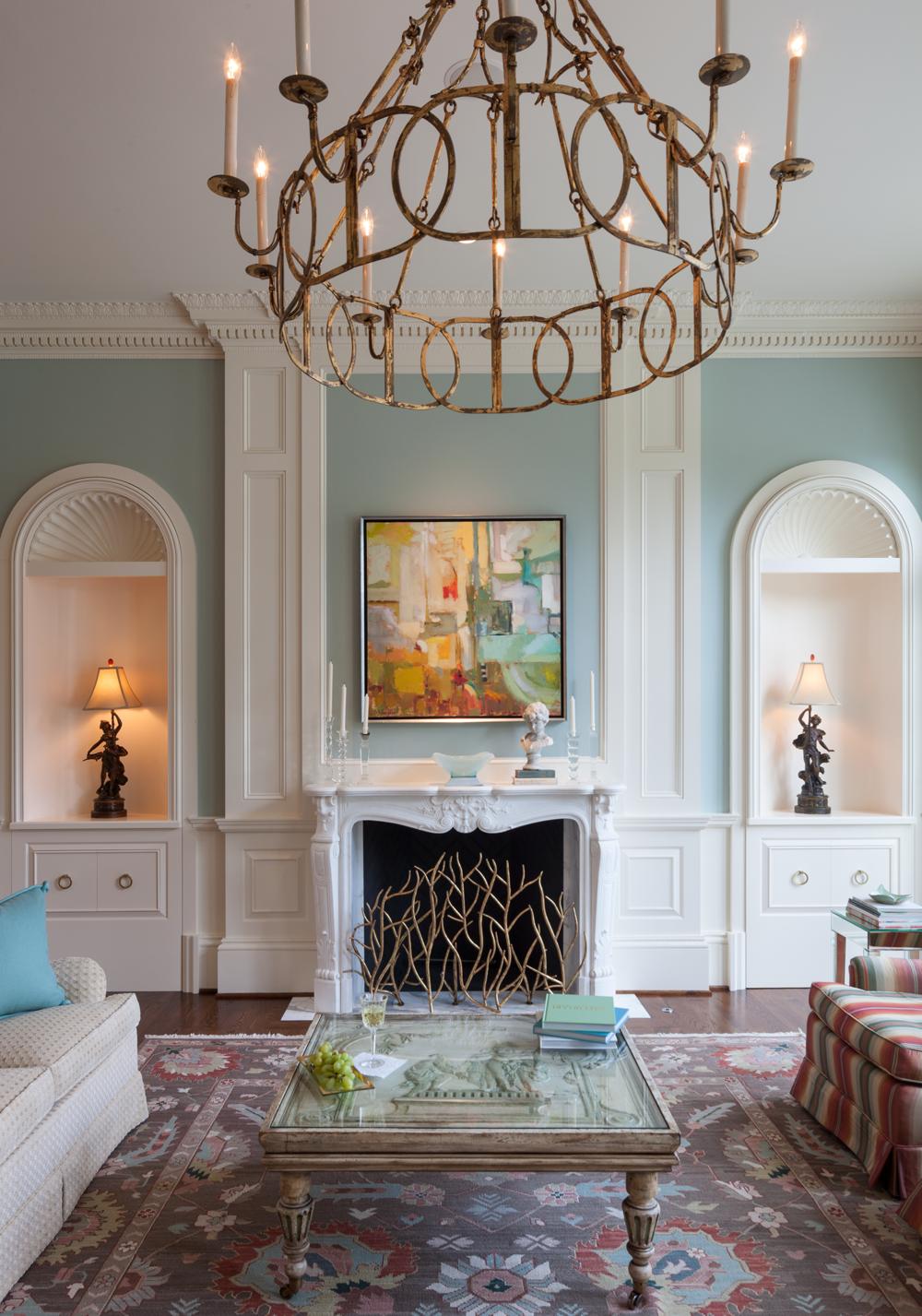 Living Room, The Johnson House   William T. Baker