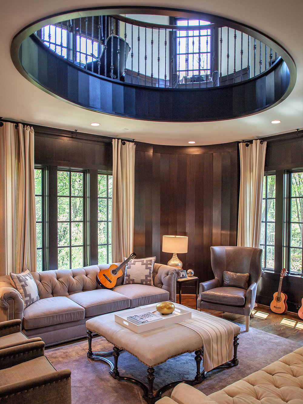 Study, Wooded Hill Estate | William T. Baker