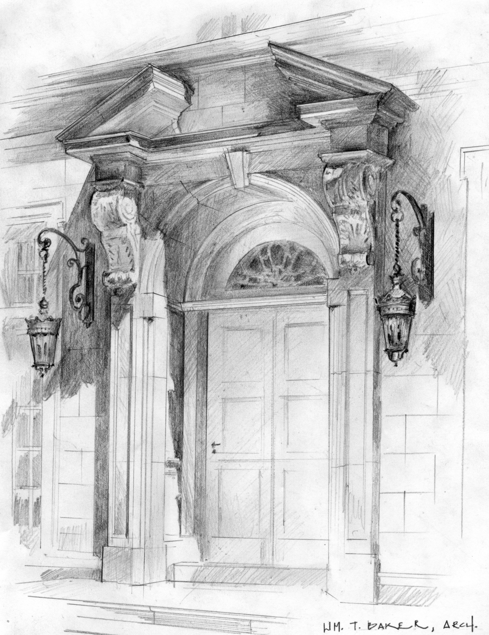 Arch Rendering - Limestone Chateau, William T. Baker