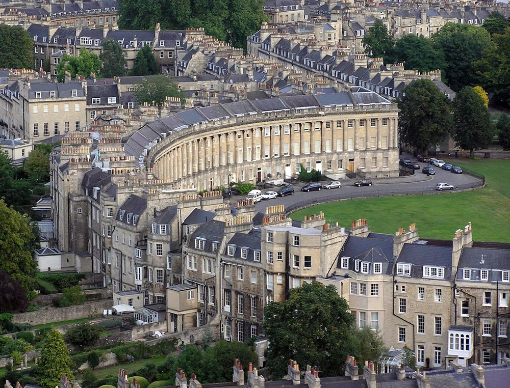 Aerial View of Royal Crescent, William T. Baker