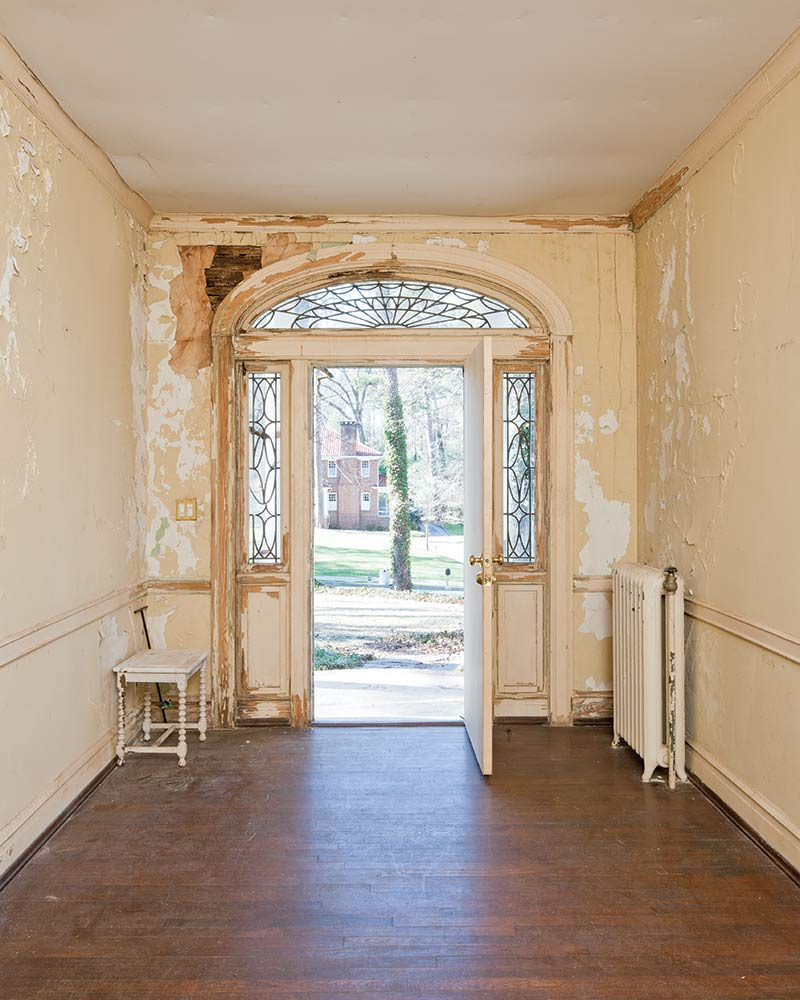 Foyer (Before) - Francis Palmer Smith House, William T. Baker