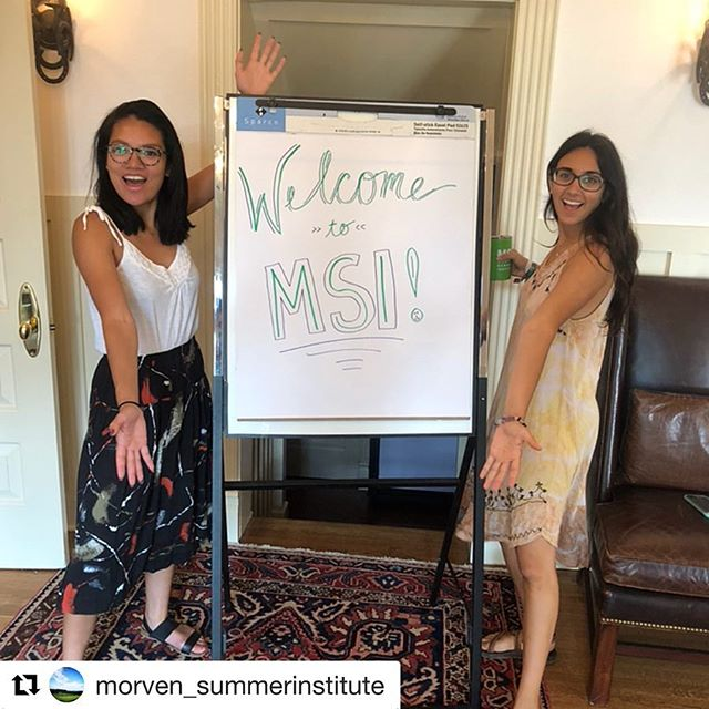 #Repost @morven_summerinstitute ・・・ First day of MSI 2018🎉  What did today look like? 😁Introductions 🌸Garden Tours 🥗Lunch by Pearl Island and MKG 📚Phoebe Crisman: Sustainable Communities