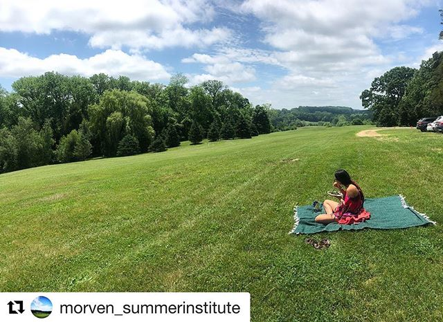 We love when our MSI students enjoy the Morven landscape  #Repost @morven_summerinstitute ・・・ Day 2 of MSI, but only one word to describe Morven: photogenic 😻  #nofilter #wishyouwerehere