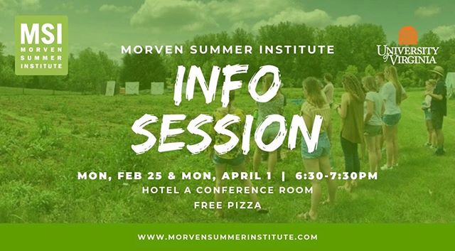 Interested in sustainability, design or food system summer courses? Come to the MSI info session on Monday to learn more! Free 🍕😋 RSVP 👉https://bit.ly/2EpFc08  Class info at http://morvensummerinstitute.com  #morvensummerinstitute #morvensummeradventures #learnatmorven #schooliscool