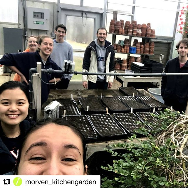 #Repost @morven_kitchengarden ・・・ Our first Spring Saturday workday was great and we are so grateful to everyone that came out despite the gross weather 🙌 We got through EVERYTHING on our to do list (how amazing is that!) and planted sooo many seed trays 🌱 Most of these lil plants are destined for our Earth Week plant sale coming up in April! We are excited at how quickly the greenhouse is filling up and can't wait to do the next batch once our primary seed shipment arrives 😄  #morvenkitchengarden #MKGspringsaturdays #weloveourvolunteers #seedseason #herewegrow  #springiscoming #letsgetplanting