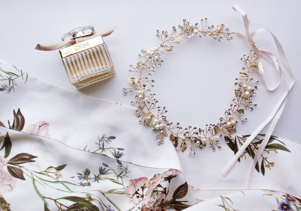 Shirley & Audrey:  Antonia hair wreath